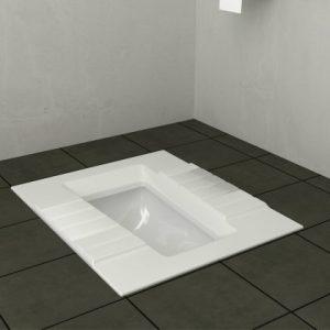 توالت زمینی آستر